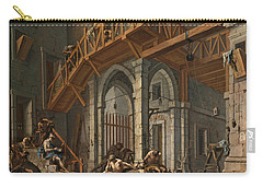 Joseph Interprets The Dreams Of The Pharaoh's Servants Whilts In Jail Carry-all Pouch by Alessandro Magnasco