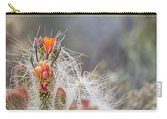 Joshua Tree Cactus And Flower Carry-all Pouch