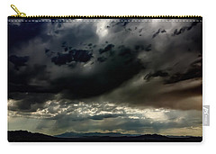 Carry-all Pouch featuring the photograph Joshua Tree Storm by Chris Tarpening