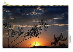 Joshua Tree Sunset Carry-all Pouch by Chris Tarpening