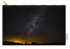 Carry-all Pouch featuring the photograph Joshua Tree's Fiery Sky by T Brian Jones