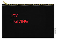 Carry-all Pouch featuring the photograph JOY by Aaron Martens