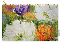 Joy With Tulips Carry-all Pouch