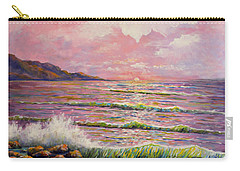 Carry-all Pouch featuring the painting Joyces Seascape by Lou Ann Bagnall