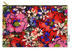 Carry-all Pouch featuring the painting Joyful Flowers by Natalie Holland