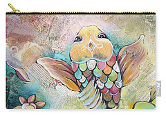 Joyful Koi II Carry-all Pouch by Shadia Derbyshire
