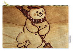 Joyful Snowman  Coffee Paintings Carry-all Pouch
