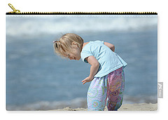 Carry-all Pouch featuring the photograph Joys Of Childhood by Fraida Gutovich