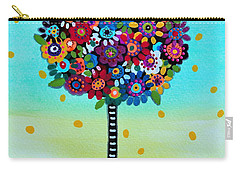 Carry-all Pouch featuring the painting Jubilant Tree Of Life by Pristine Cartera Turkus