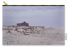 Carry-all Pouch featuring the photograph Judge's Shack by Debra Fedchin