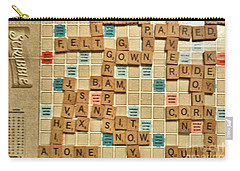 Judy Wins Scrabble Again Carry-all Pouch by Janette Boyd