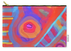 Carry-all Pouch featuring the painting Juicy Colored Abstract by Susan Stone