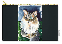 Juju - Cashmere Bengal Cat Painting Carry-all Pouch