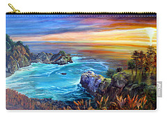 Julia Pfeiffer Beach Carry-all Pouch by LaVonne Hand