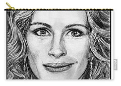 Julia Roberts In 2008 Carry-all Pouch by J McCombie