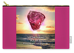 July Birthstone Ruby Carry-all Pouch