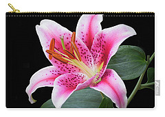 July Stargazer Lily Carry-all Pouch
