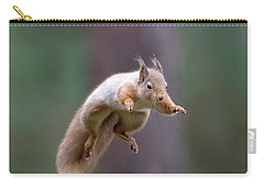 Jumping Red Squirrel Carry-all Pouch