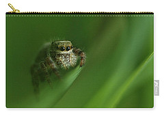 Jumping Spider Contemplating Life Carry-all Pouch