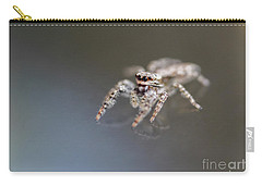 Jumping Spider On Glass Table Carry-all Pouch