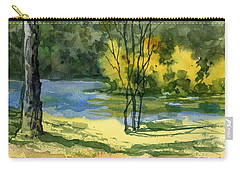 Junction Of White And Spring Rivers Carry-all Pouch