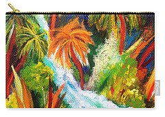 Jungle Falls Carry-all Pouch by Elizabeth Fontaine-Barr
