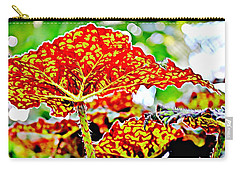 Carry-all Pouch featuring the photograph Jungle Leaf by Mindy Newman