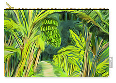 Carry-all Pouch featuring the digital art Jungle Path by Jean Pacheco Ravinski