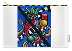Carry-all Pouch featuring the painting Jungle Stripes 1 - Abstract Art Painting - Ai P. Nilson by Ai P Nilson