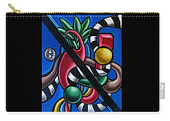 Jungle Stripes 1 - Abstract Painting Carry-all Pouch
