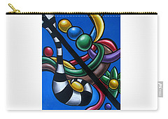 Carry-all Pouch featuring the painting Jungle Stripes 3 - Original Abstract Art Painting - Modern Chromatic Art by Ai P Nilson