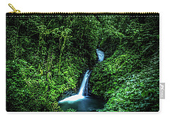 Carry-all Pouch featuring the photograph Jungle Waterfall by Nicklas Gustafsson
