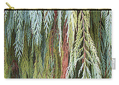Juniper Leaves - Shades Of Green Carry-all Pouch by Ben and Raisa Gertsberg