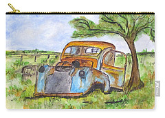Junk Car And Tree Carry-all Pouch