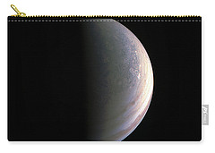 Carry-all Pouch featuring the photograph Juno Closing In On Jupiter's North Pole by Nasa