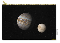 Jupiter With Io And Europa Carry-all Pouch
