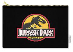 Jurassic Park T-shirt Carry-all Pouch by Herb Strobino