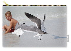 Just A Day At The Beach Jdabp Carry-all Pouch by Jim Brage
