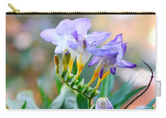 Carry-all Pouch featuring the photograph Just A Freesia by Lance Sheridan-Peel
