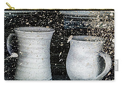 Carry-all Pouch featuring the photograph Just A Little Too Fast On The Pottery Wheel by Steve Taylor