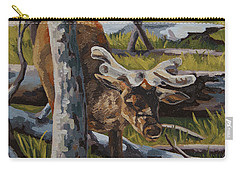 Carry-all Pouch featuring the painting Just A Peek by Erin Fickert-Rowland
