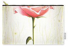 Carry-all Pouch featuring the drawing Just Another Common Beauty by Danielle R T Haney