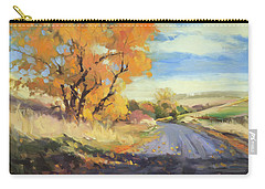 Carry-all Pouch featuring the painting Just Around The Corner by Steve Henderson