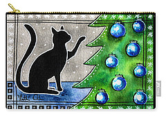 Just Counting Balls - Christmas Cat Carry-all Pouch