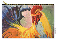 Carry-all Pouch featuring the painting Just Don't Call Me Chicken by Tom Riggs
