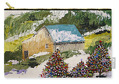 Carry-all Pouch featuring the painting Just Down The Hill by John Williams