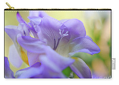 Carry-all Pouch featuring the photograph Just Freesia's by Lance Sheridan-Peel