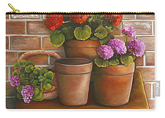 Just Geraniums Carry-all Pouch by Marlene Book