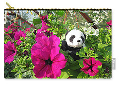 Carry-all Pouch featuring the photograph Just Hanging In There by Ausra Huntington nee Paulauskaite
