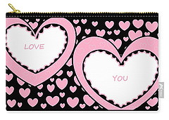Just Hearts 2 Carry-all Pouch by Linda Velasquez